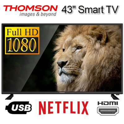 THOMSON Smart TV 43 Inch FULL HD 1080p LED 43″ Netflix Streaming Apps Television