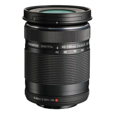 Olympus ED 40-150mm f:4.0-5.6 R Zoom Lens (Black) for Olympus and Panasonic Micro 4/3 Cameras