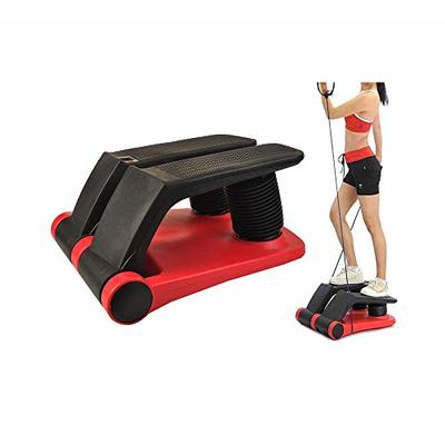 INTBUYING Air Stepper Climber Fitness Machine Resistant Cord Air Step Aerobics Machine Stair Stepper Exercise Equipment…