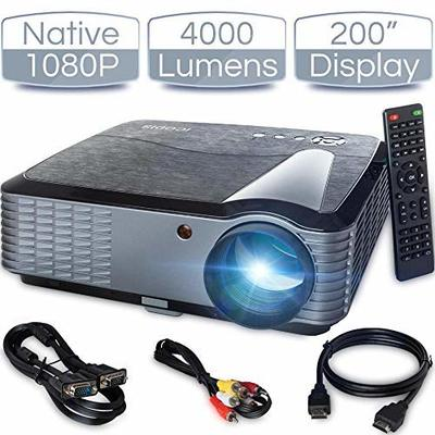 iCODIS T700 Video Projector, Native Full HD 1080P Digital Projector 4000 Lux with 200″ Display, 50,000 Hrs Lamp Life…